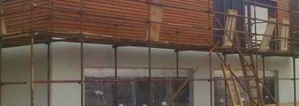 Černolice – stavební práce na rodinném domě