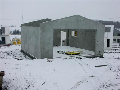Odolena Voda - realizace prefabrikované rodinné domy
